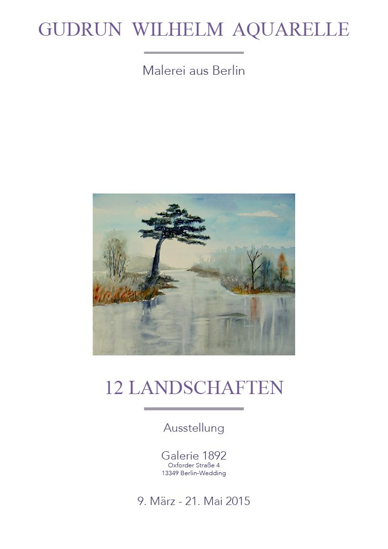 Ausstellungsplakat 12 Landschaften